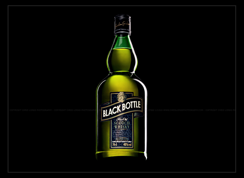 Black Bottle hero packshot